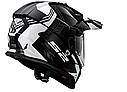 Мотошлем LS2 MX436 PIONEER BLACK WHITE TITANIUM, фото 2