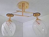 Люстра потолочная на 2 лампочки YR-7003/2A-gd, фото 1