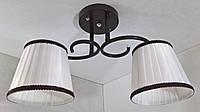 Люстра потолочная на 2 лампочки YR-76320/2-brown, фото 1