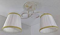 Люстра потолочная на 2 лампочки YR-76320/2-wt-gd, фото 1