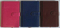 Ежедневник\ щоденник недатированый на магнитной кнопке с визитницей 150л. № 2514, фото 1