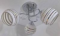 Люстра потолочная на 3 лампочки YR-2229/3-ch, фото 1