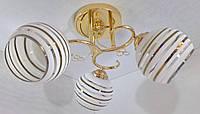 Люстра потолочная на 3 лампочки YR-2229/3-gd, фото 1