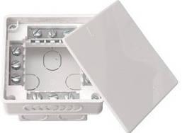 Коробка монтажна КМ-212 (вбудована з клемами 95х95х53мм) BYLECTRICA 35шт в уп