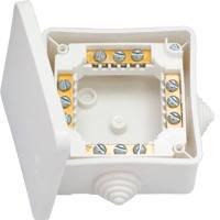 Коробка монтажна КМ-222 IP44 (накладна з герм.вводами,з клемами 102*102*43,5 мм) BYLECTRICA 36шт в у