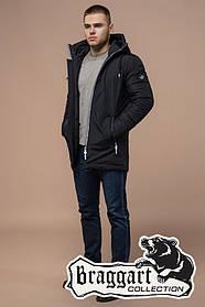 Теплая зимняя куртка мужская Braggart Black Diamond (р. 46-56) арт. 9018 I черный
