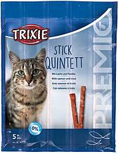 """Ласощі """"PREMIO Quadro-Sticks"""" палички жувальні для котів Trixie (Тріксі) лосось / форель"""