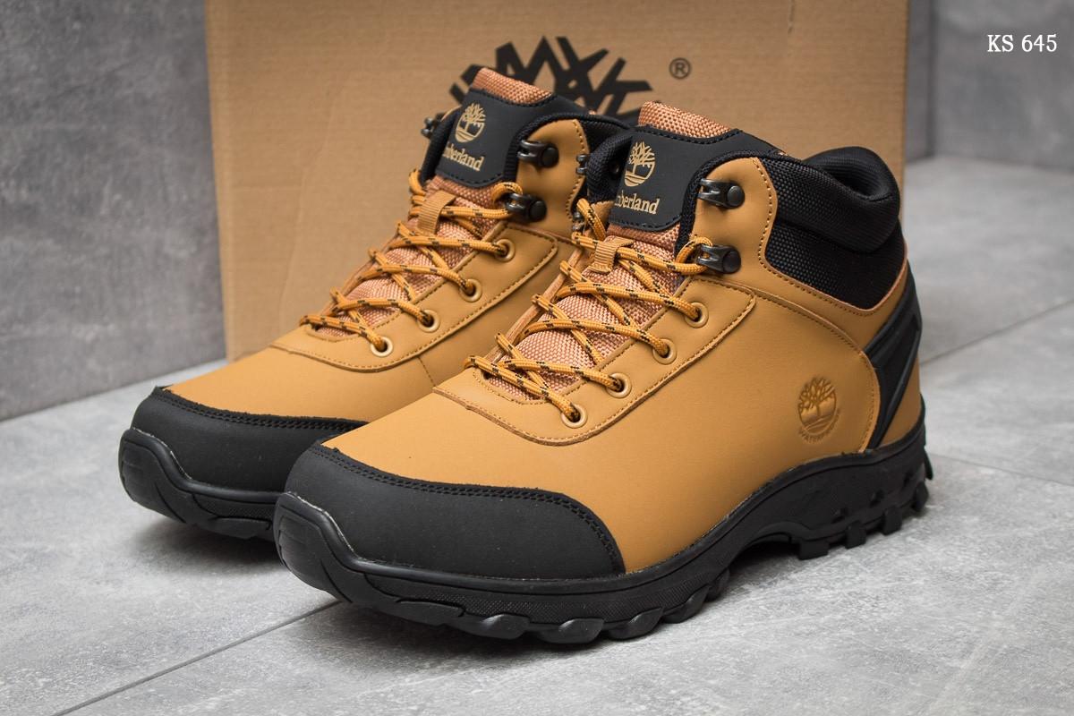 Мужские зимние ботинки ( кроссовки) Timberland Canard Oxford реплика (рыжие) 81e195fc2dd