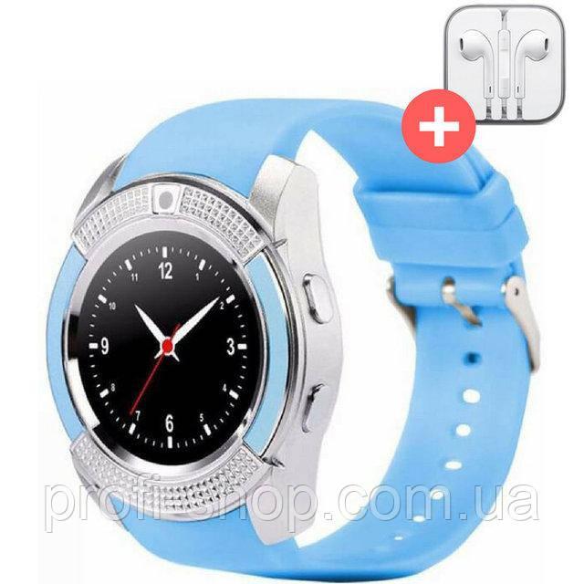 Смарт часы Smart Watch V8. Голубой. Blue