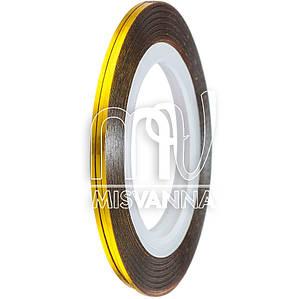 Лента-скотч для декора 1 мм, Т14 золото