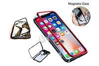 Магнитный чехол iPhone 7/8/Plus/X/XS magnetic case противоударный бампер железный Magnet
