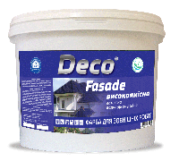 КРАСКА ФАСАДНАЯ, водоэмульсионная акрилова  FASADE ТМ Deco
