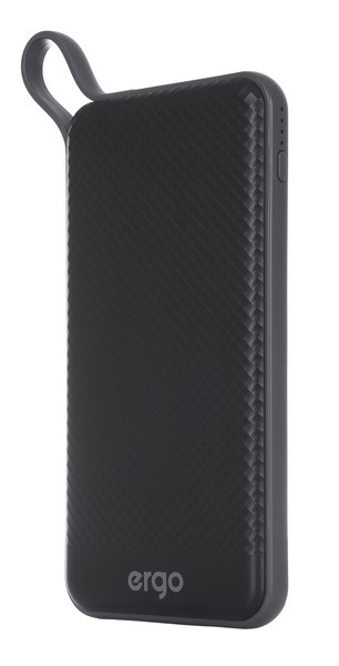 Power Bank ERGO LP-129 с TYPE-C 10000 mAh Li-pol (Black)