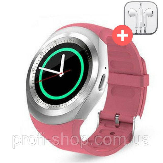 Умные часы Smart Watch Y1 с SIM картой. Розовый. Pink.