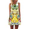 Женское легкое платье в цветы АL7322