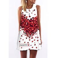 Женское летнее платье в сердечки АL7326