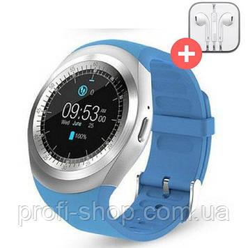 Умные часы Smart Watch Y1 с SIM картой. Синий. Blue