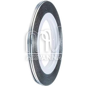 Лента-скотч для декора 1 мм, Т15 серебро