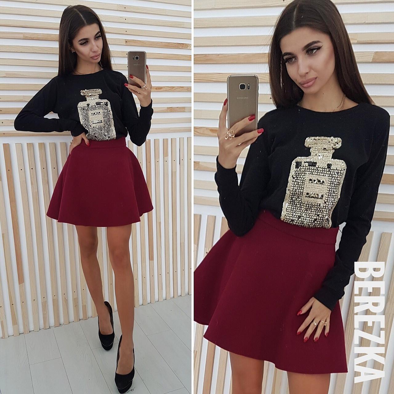 b75ba9520925 Костюм модный свитшот из ангоры и пышная юбка мини кашемир