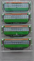 """Лезвия для бритвы Gillette Mach3 Power 4""""s (четыре картриджа в пластиковом контейнере)"""