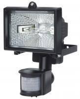 Прожектор галогенный H150; IP44; с датчиком движения; 120Вт; 2216 люмен; черный, фото 1