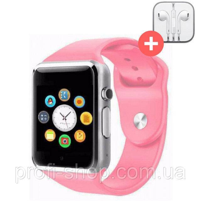 Смарт часы Smart Watch A1. Розовый. Pink