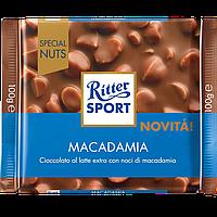 Шоколад Ritter Sport MACADAMIA (Молочний, цельный орех ), 100г (1уп/11шт)