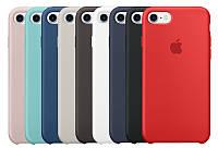 Силиконовый чехол Apple silicon case для iphone 7/8/7+/8+/X/XR/XS/XS max