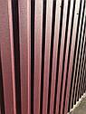 Профнастил двухсторонний матовый вишневый (RAL 3005) графит (RAL 7024), коричневый RAL 8019, темно-коричневый, фото 3