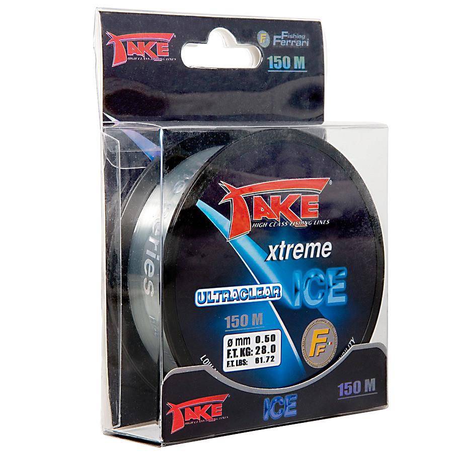 Леска Lineaeffe Take Xtreme Ice (ультрапрозрачная) 150м. 0.14мм. FishTest 2,8кг