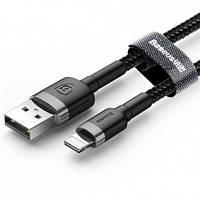 USB кабель Lightning BASEUS Kevlar 2.4A, 1m black, фото 1