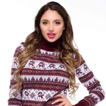 Новогодний женский свитер с милыми снеговиками р. 44-52