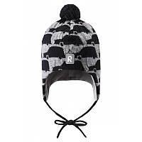 Зимняя шерстяная шапка Atuk для мальчика 6 мес. - 5 лет (р. 46-52) ТМ Reima Серый 518474