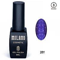 Гель-лак Milano 8 мл, № 201