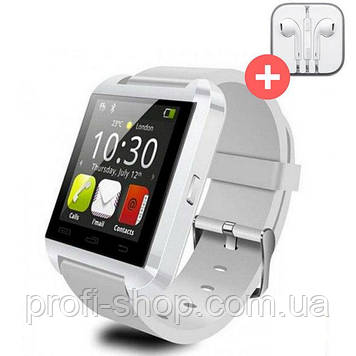 UWatch Умные часы Smart U8. Белая. White