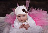 Детская шапка для девочек СТЕЙСИ оптом размер 38-40-42
