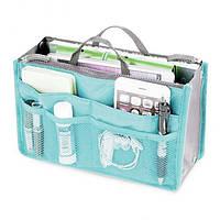 Органайзер для сумочки Bag-in-Bag . Косметичка. Голубой