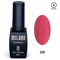 Гель-лак Milano 8 мл, № 039