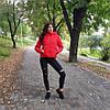Куртка короткая красная-215-08