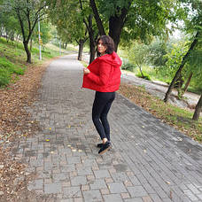 Куртка короткая красная - Размер L - Код - 215-08, фото 3