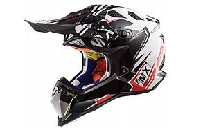 Шлем кроссовый Ls2 MX470 Subverter Emperor (Black White Red)