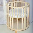 """Кроватка овальная трансформер Бук 12в1 """"слоновая кость"""" """"Baby-Sleep"""", фото 4"""