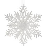 Новогодние украшение Снежинка 15см (45шт), цвет - белый