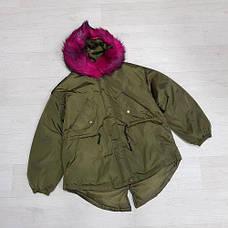 Куртка короткая хаки (размер L) -215-05-1, фото 2