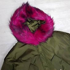 Куртка короткая хаки (размер L) -215-05-1, фото 3