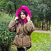 Куртка короткая хаки (размер L) -215-05-1