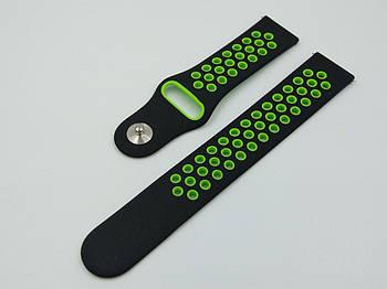Ремешок Sport Nike Xiaomi AMAZFIT Pace / Stratos / 22 мм Black / Green (Черный / Зеленый)