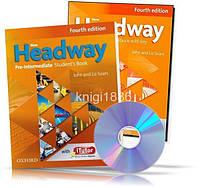 New Headway Pre-Intermediate, Student's book + Workbook + CD / Учебник + Тетрадь английского языка