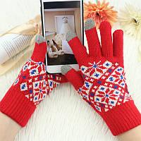 Перчатки женские тачскрин Snow, фото 1