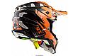 Шлем кроссовый Ls2 MX470 Subverter Emperor (Black Orange) AK2522, фото 3